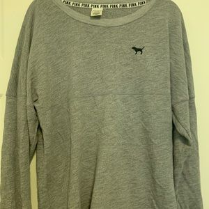 PINK crew neck sweater size large